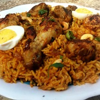Chicken Kabsa - Rice mixed with Spices and Meat